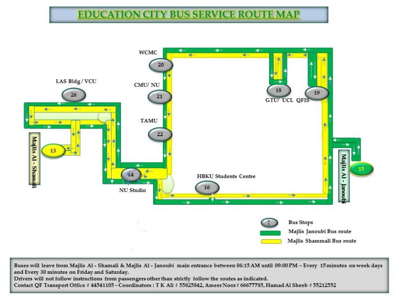 Education City Bus Service Route Map